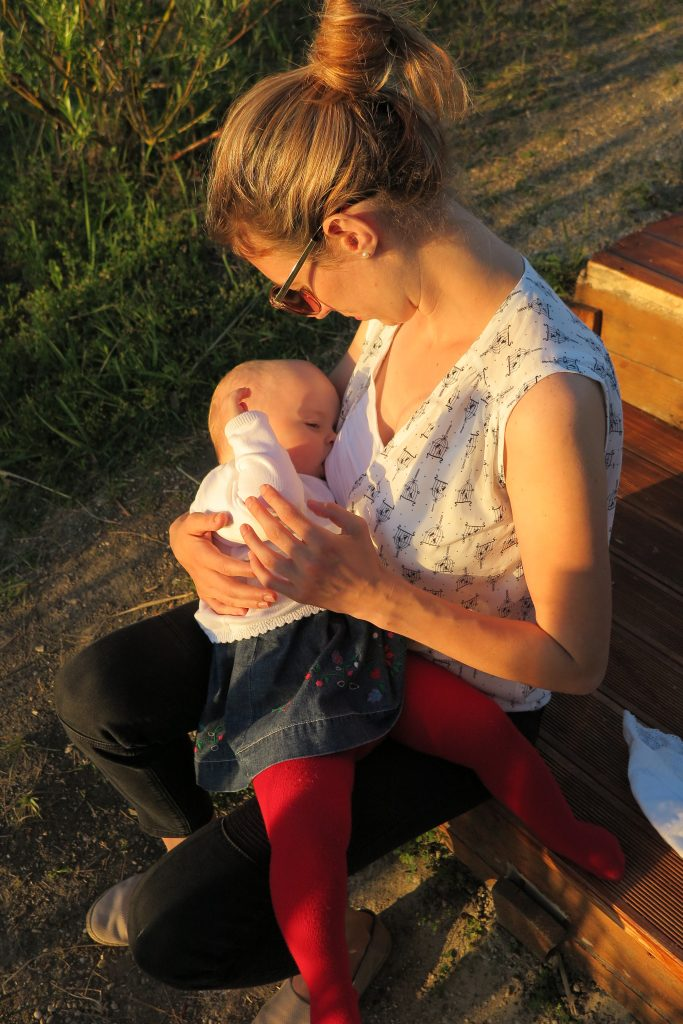 dojčenie s blúzkou BIRDS